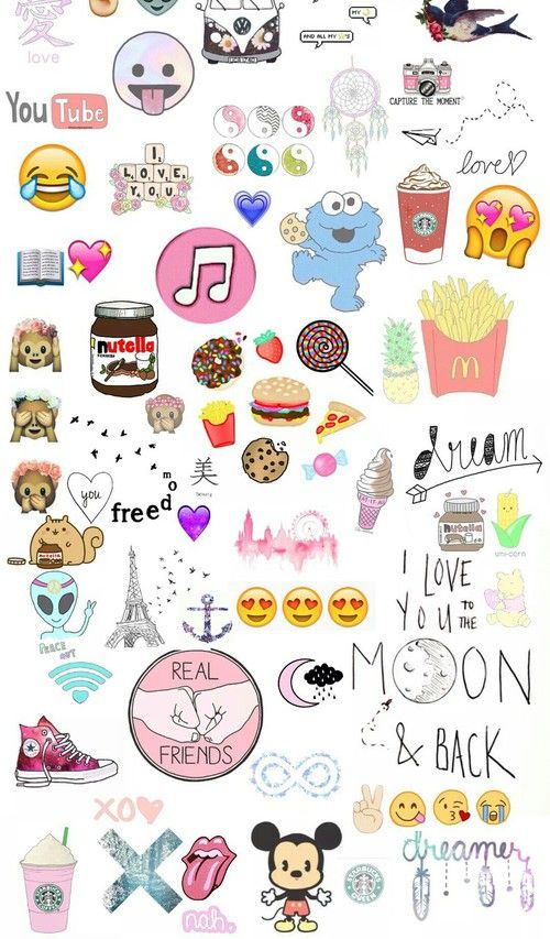 alien, all stars, book, chips, cookies, dreamer, emoji, emoticons, food, freedom, friends, hamburger, heart, icecream, infinity, lau, london, love, mc donalds, mickey, photo, pineapple, pooh, rain, shoes, strawberries, tumblr, wallpaper, xo, yang