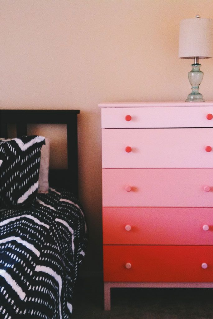 #DIY #ombre style chest of drawers #makeover