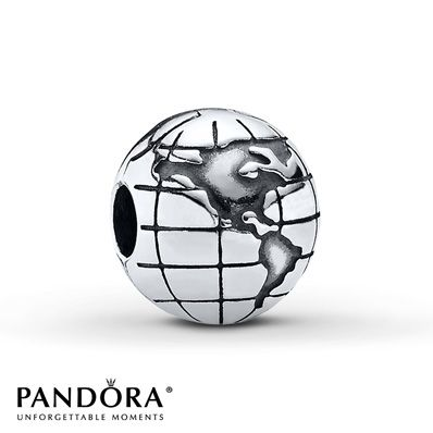 Pandora Globe Clip- I have 2 of these to represent Chase, my Navy Son, who will travel the world!