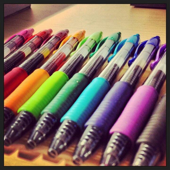 Pilot G2 Pen Rainbow Pens Pinterest Colors