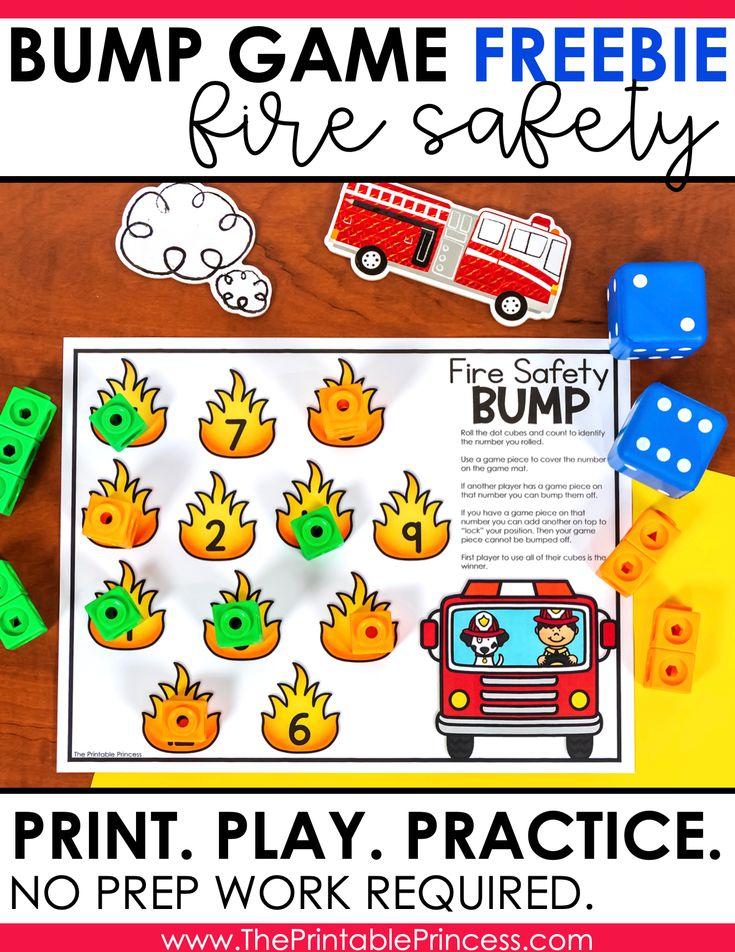 Free Fire Safety Math Game Fire safety, Kindergarten