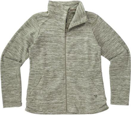Mountain Hardwear Women's Snowpass Full Zip Fleece Jacket Heather Stone Green S