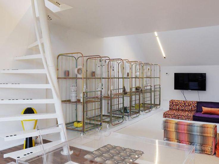 Renovatie • modern • woonkamer • gietvloer • interieur • minimalistisch • ijzeren trap • Architect: Tom Jonckers