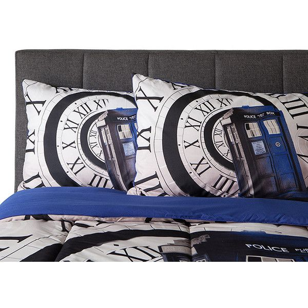 Exclusive Doctor Who Pillow Cases ($20) ❤ liked on Polyvore featuring home, bed & bath, bedding, bed sheets, couple pillowcases and couple pillow cases
