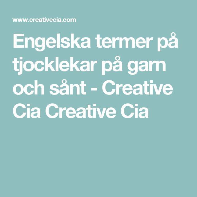 Engelska termer på tjocklekar på garn och sånt - Creative Cia Creative Cia