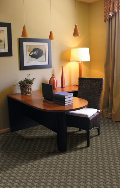 Home Office With Carpet Patterned In Pinterest Feng Shui And Decor