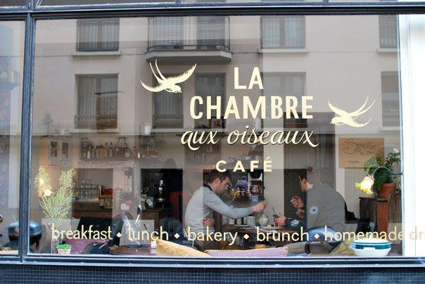 (+++ => pour un brunch entre copines) La chambre aux oiseaux. 48, RUE BICHAT PARIS 10E.