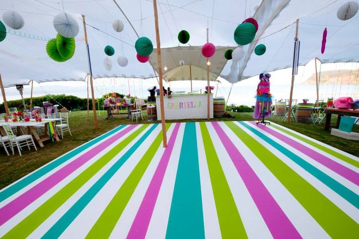 Colourful Dance Floor www.eventsandtents.co.za