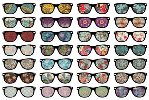 We're seeing prints, lots of prints!: Rayban, Colors Patterns, Things I Love, Art Prints, Stretch Canvas, Inspiration Pictures, Ray Ban, Bianca Green, Sunglasses