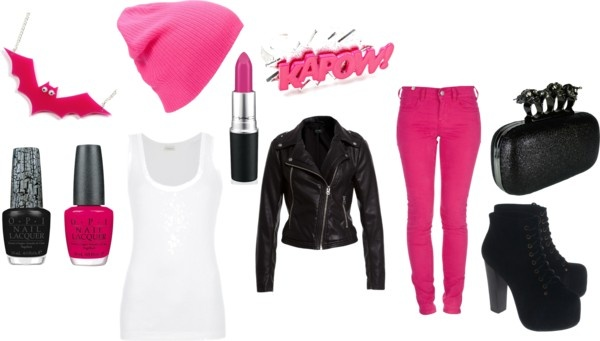 """think pink"" by nicole-beal on Polyvore"
