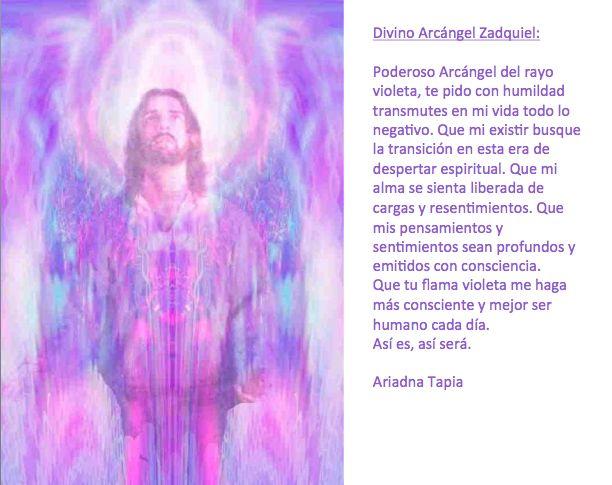Oración al Arcángel Zadquiel.