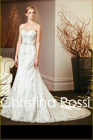 christina rossi 2014 Wedding Dress Style 4157 [4157]