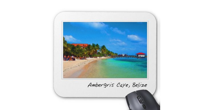Ambergris Caye San… mousepads, travel mousepads, international mousepads, gel mousepads, ergo mousepads, art mousepads, watercolor mousepads