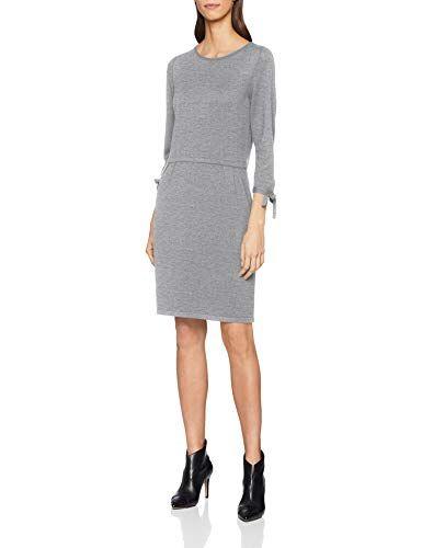 s.Oliver Damen Kleid 14.811.82.8756 Grau (Silver Grey Melange 9700 ... 1ed373dbaf