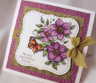 Butterflies & BlossomsCards Ideas, Cards Scrapbook, Handmade Cards, Cards Inspiration, Homemade Cards