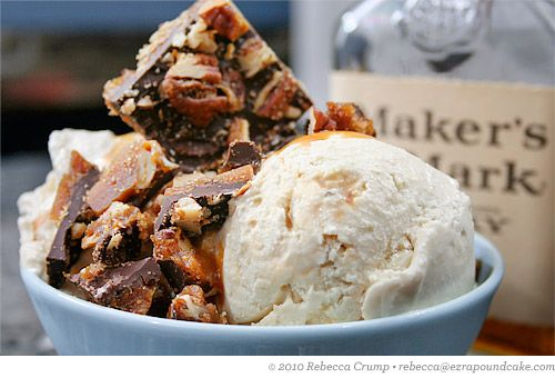 Bourbon Vanilla Ice Cream with Salted Bourbon-Caramel Sauce and ...