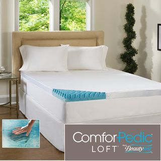 Beautyrest 4-inch Sculpted Gel Memory Foam Mattress Topper with Polysilk Cover | Overstock.com Shopping - The Best Prices on Simmons Beautyrest Memory Foam Mattress Toppers