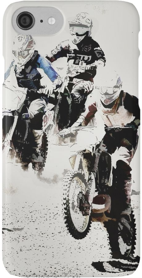 The race is on, and these daring motocross racers start off with a bang looking to take the lead. • Also buy this artwork on phone cases, apparel, stickers, and more.