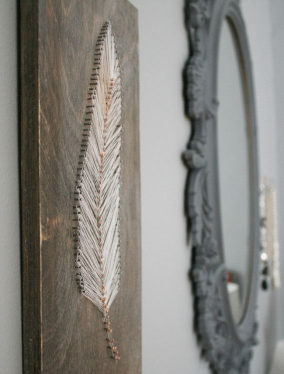 DIY String Art Ideas | AD BLOG Oh that's pretty. Intensive looking, but pretty.