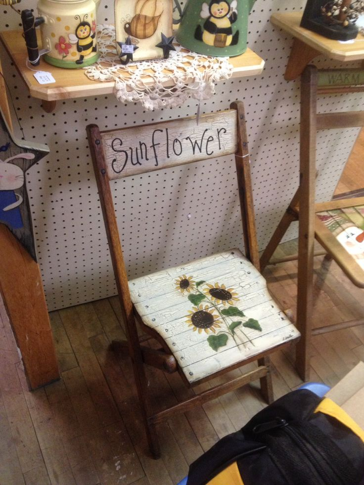 Sunflower Chair 124 best sunflower seats images on pinterest | sunflowers, painted