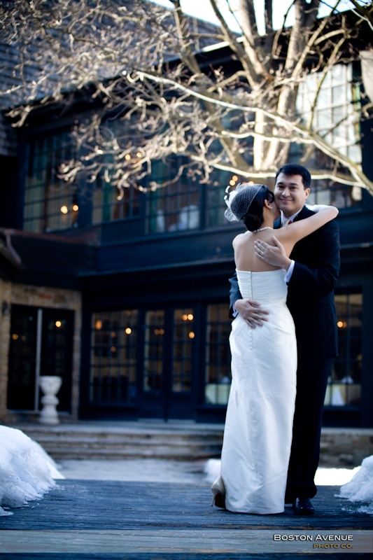 ...simply stunning winter wedding couple at the Old Mill Inn!