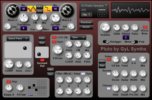 GyL Synths releases Pluto free VST wavetable synth | VST in