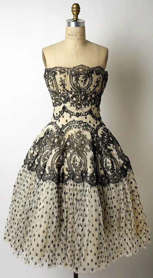 Lanvin-Castillo silk evening dress, c.1954