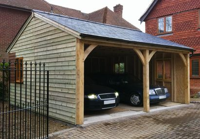 Best 25 double carport ideas on pinterest for Carport with storage room