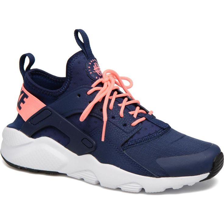 Nike Air Huarache Run Ultra Mens Shoes BlackGift Box Blue