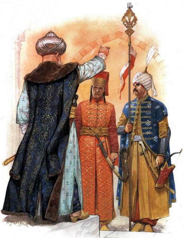 guard of the Ottoman Sultan in the 16th century AD