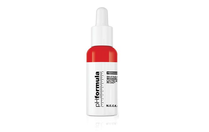 This gel-based formulation is designed for mild but effective skin resurfacing of the neck and décolleté area. Formulated with an active combination of Salicylic and Mandelic acid it assists in superficial exfoliation and cell renewal, reducing the appearance of premature ageing on the neck and décolleté improving the overall condition of the skin.