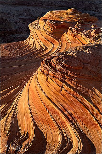 Beautiful desert... sandstone waves in Coyote Buttes North, Arizona.