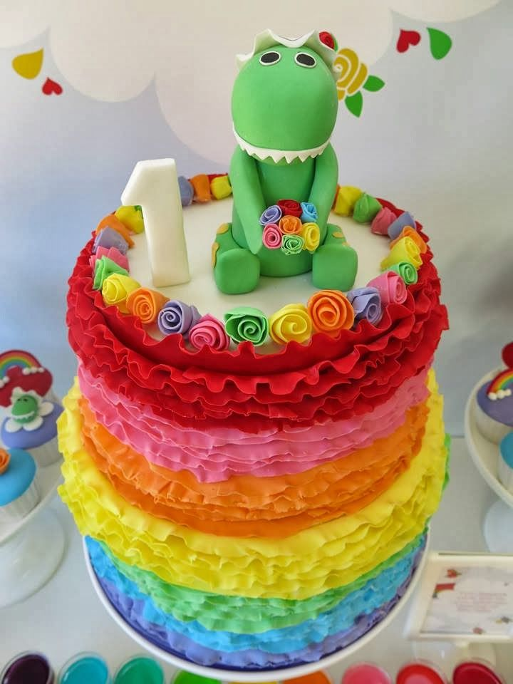 Party Inspirations: Rainbow / Dorothy the Dinosaur Dessert Table by Kouzina Events