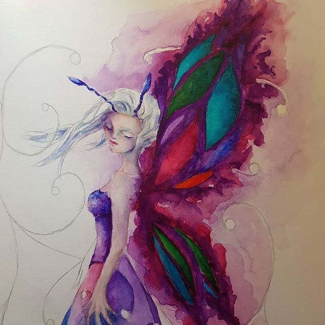 Just A Little Watercolour Fairy In Progress How Has The Weekend