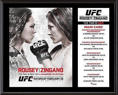 UFC 184 Ronda Rousey vs. Cat Zingano 12 x 15 Sublimated Plaque