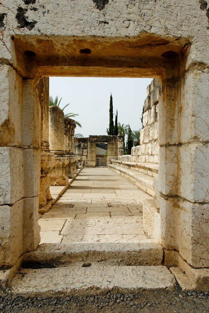 Ruins of Capernaum synagogue, Land of Israel.