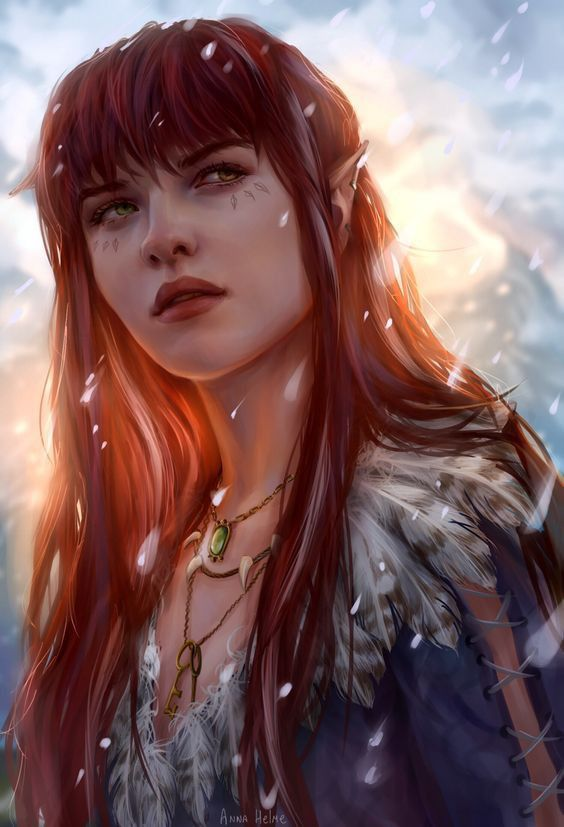 F Half Elfsun Elf Wizard Druid Ranger Rogue Npc Inspiration In