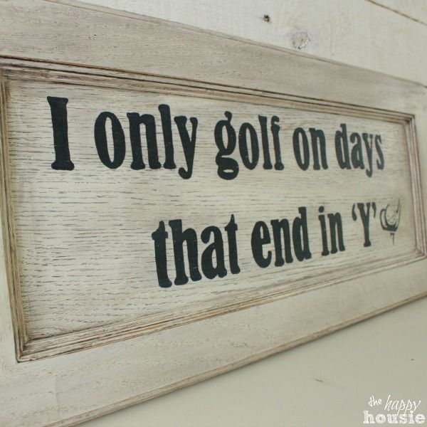 DIY Golf Sign for Father's Day thumbnail at The Happy Housie