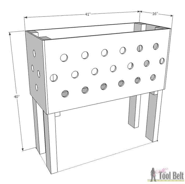 Pallet Planter Box for Cascading Flowers