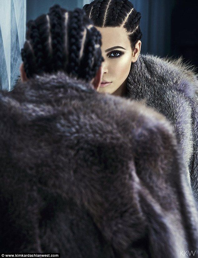 Mirror, mirror: Kim Kardashian has teamed up with iconic makeup artist Pat McGrath to star in a stunning new photoshoot, which she unveiled on her website