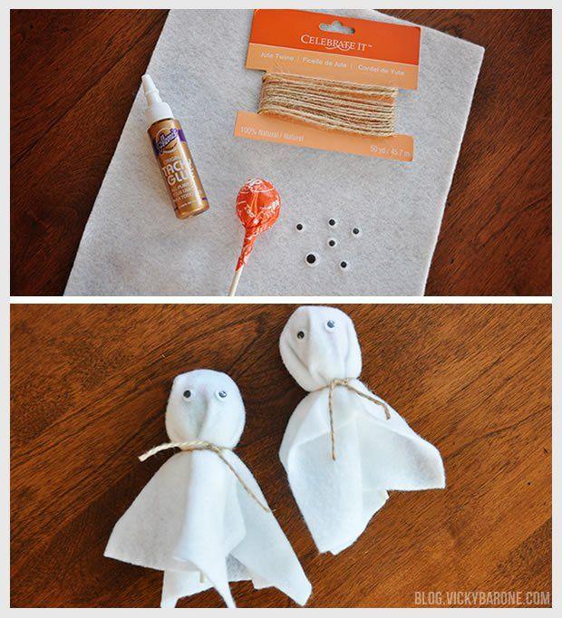 diy lollipop ghosts halloween craftshalloween decorationshalloween - Last Minute Halloween Decorations