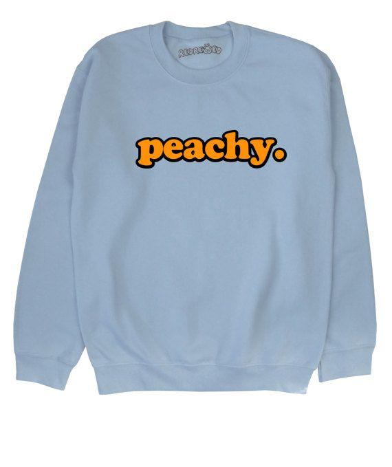 Hey, I found this really awesome Etsy listing at https://www.etsy.com/uk/listing/204545201/peachy-sweatshirt-unisex-kawaii-grunge