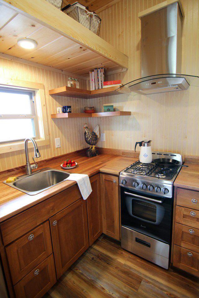 Houston By American Tiny House Tiny Living Outdoor Kitchen Appliances Small Kitchen Tiny Kitchen