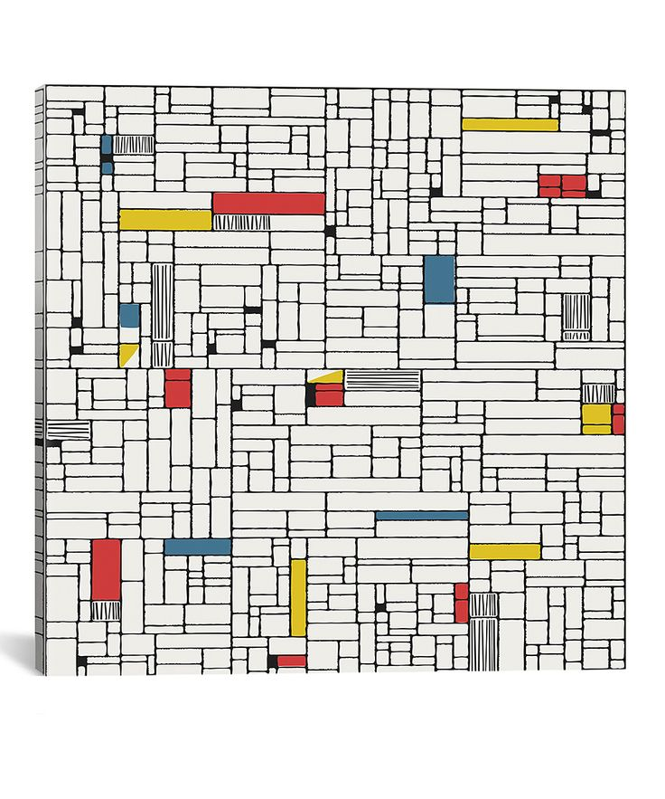 Computer Grid Wrapped Canvas