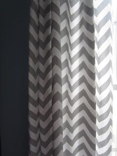 gray chevron curtains for a boy's room (or any room!) #chevron #curtains #boysroom
