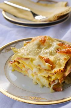 Lasagne al prosciutto provola e besciamella vickyart arte in cucina