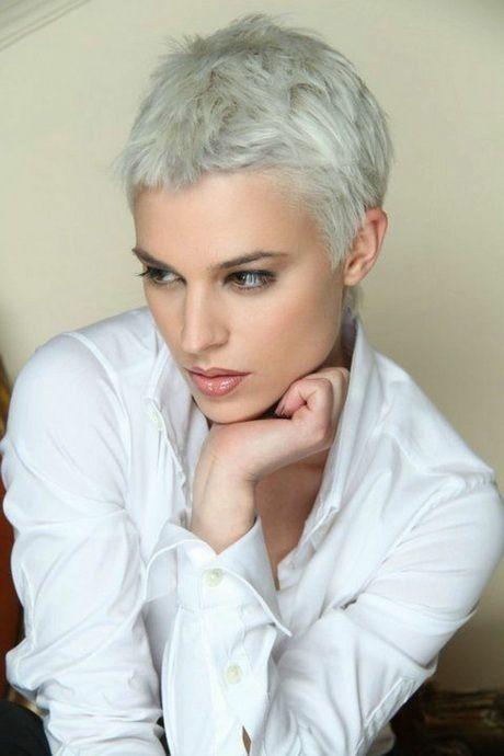 Frauen Frisur Extrem Kurz Frauen Neueste Mode Graue Haare