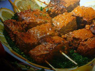 un mondo di ricette: cucina egiziana - shish kebab
