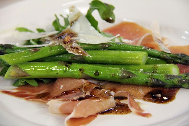 Asparagus With Parmesan Pudding And Prosciutto Recipe ...