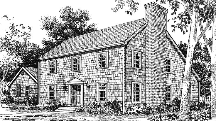 10 best saltbox colonial houses images on pinterest for Colonial saltbox house plans